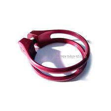 RED 8g Road MTB SeatPost Clamp 31.8MM Ti Titanium Bolt FOR 27.2MM 26.8mm KCNC