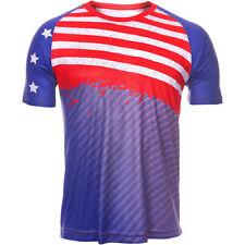 Tervel Sportline T-Shirt Heren Ademende Korte Mouw Afdrukken Thermoactief USA