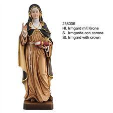 Hl.IRMGARD mit KRONE Woodcarving. Statua Santa Irmgarda con Corona