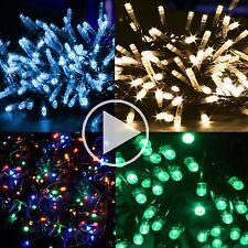 LED Lichterkette Weihnachtsbeleuchtung innen außen bunt warmweiß rot orange grün