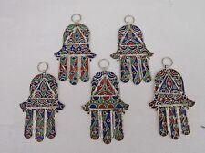Moroccan Hand Tooled Enameled  Metal  Hand of Fatima / Hamza *