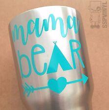 Mama Bear Arrow Heart Tee Pee Yeti Ozark Tumbler Cup Window Laptop Decal Sticker