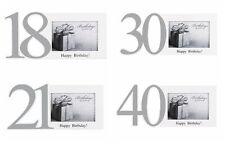 "18th , 21st, 30th , 50th  Birthday Gift  White  Photo Frame  Hold 6"" x 4"""