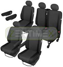 Sitzbezüge Schonbezüge SET ADD für Citroen Jumper Stoff schwarz