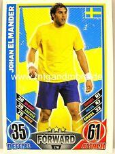 Match Attax Euro EM 2012 - #176 Johan Elmander - Schweden