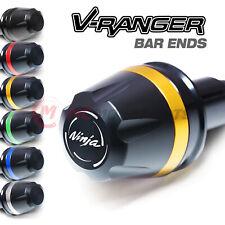 V-RANGER CNC Bar Ends Sliders Logo For Kawasaki Ninja 650R 06-16 15 14 13 12 11