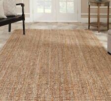 Natural Beige Sisal Fine Jute Hand Woven Area Rugs 8' x 10' 8 x 10 9 12 5 8 Rug