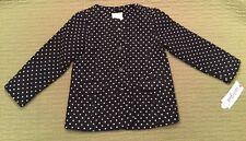 Toddler Girls Dress Casual Winter Pea Coat Jacket Cat & Jack Black Dots New! ❄️