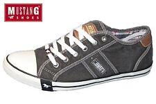 MUSTANG Damen Sneaker Grau Halbschuhe Schuhe Canvas Slipper 1099-302-2