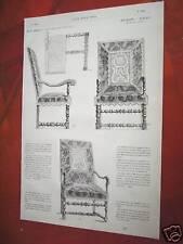79-19-97a Gravure 19e meubles - sièges