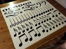 Set OF 50  NOTES MUSIC VINYL WALL DECALS STICKER treble clef de sol instrument