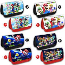 SUPER MARIO Bros Personalised Pencil Case Nintendo DS Game Bag Name Gift School