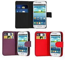 Pour Samsung Galaxy S3 Mini I8190 -  Etui Portefeuille Porte Cartes Cuir + Film