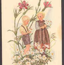 FANTASY CHILDRN PICK DAISY FLOWERS,ANNA MARIE POSTCARD