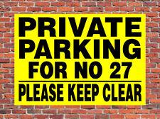 Estacionamiento privado tenga claro ≈ ≈ Letrero de Metal personalizado no entrada aviso