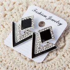 Luxury Triangle Crystal Stud Earring For Women Vintage Fashion Earrings