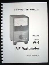 Drake W-4 W4 Wattmeter Manual