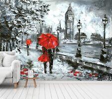 3D Rot Regenschirm 7143 Tapete Wandgemälde Tapete Tapeten Bild Familie DE Sidney