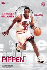 LIBRO BOOK N° 14 SCOTTIE PIPPEN LE STELLE DELLA NBA AI RAGGI X CHICAGO BULLS
