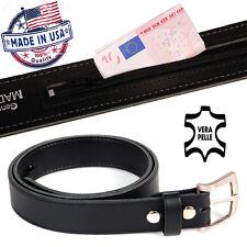 Cinturon piel genuina USA con bolsillo oculto - Cartera portasoldi import