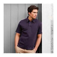 FR42 Front Row Super Soft Jersey Polo Shirt Black /Charcoal M/L/XL/XXL