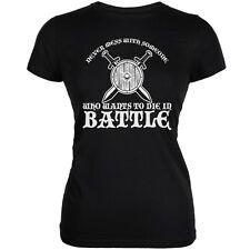 Die In Battle Black Juniors Soft T-Shirt