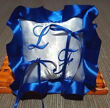 Cuscino fedi cuscinetto portafedi raso ricamo personalizzato iniziali sposi