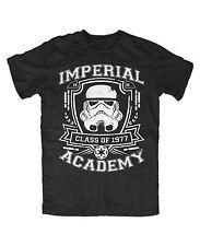 Stormtrooper Imperial Academy T-shirt nera star wars fun, culto, Jedi, culto