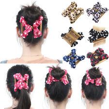 Neue Damen Magic Hair Comb Bowknot Haarspangen Dot Kämme Stretchy Haarschmuck