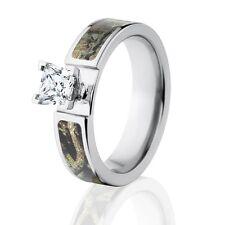 Mossy Oak Break Up Infinity Camo Ring, Camo Engagement Rings , 1CT CZ