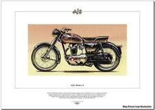AJS MODEL 8 - Motor Cycle Fine Art Print - 350cc single Classic Motorbike