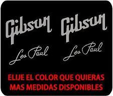 p107 GIBSON LES PAUL Logo Pegatina Sticker Vinilo Plata Adhesivo Silver