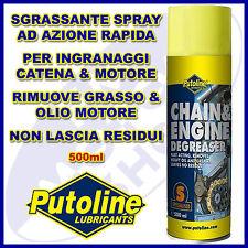 Sgrassatore PUTOLINE CHAIN ENGINE DEGREASER Detergente Spray Catena Motore Moto