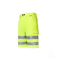Warnschutzshorts Arbeitsshorts gelb S - XXL Warnschutzhose Kurze Shorts Bermuda
