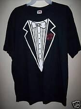 Mens XL Black Tuxedo Wedding Groom Halloween T-Shirt NW