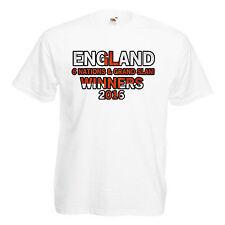 Inghilterra 6 Nazioni vincitori GRAND SLAM Adulti Da Uomo T Shirt 12 Colori Taglia S - 3XL