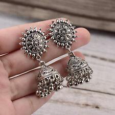 Bohemian Ethnic Gypsy Vintage Carved Bell Tassel Drop Dangle Earrings For Women