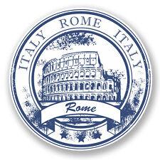 2 X ITALIA ROMA adesivo vinile iPad Laptop Auto Viaggio Bagagli Etichetta Italiana # 5928