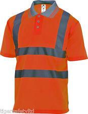 Delta Plus Panoply Offshore High Visibility Orange Polo Shirt Hi-Viz T-Shirt PPE