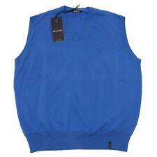 3888O gilet BRAMANTE bluette maglie senza manica uomo sweater men