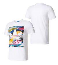 New Adidas Original Men Los Angeles Box Graphic Tees White colorful shirt BK7693