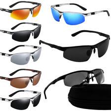 Sonnenbrille Herren Polarisiert Metall UV 400 Schutz Fitness Pilotenbrille