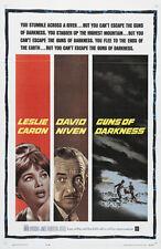 Guns of darkness David Niven Leslie Caron movie poster print