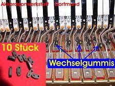 Akkordeonersatzteile, 10 cambio de goma para Hohner Atlantic, Lucia - 10 key Rubber