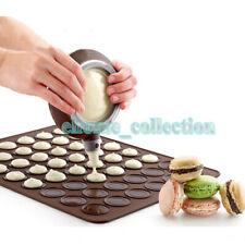Silicone Macaron Baking Decorating Pen+30 Cavity Macaron Baking Sheet Mat Moulds