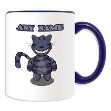 Cadeau personnalisé tasse chat du Cheshire argent boîte cup conte de fées Alice au pays des merveilles