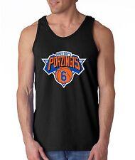 "BLACK Kristaps Porzingis New York Knicks ""Logo""  shirt TANK-TOP"