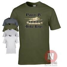 Panzer 4 Afrika korps tank WW2 German military armour T-shirt World of war Tanks
