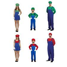 Vestido de lujo de Super Mario Luigi Traje Disfraz Adulto De Familia Niño hombre y hembra