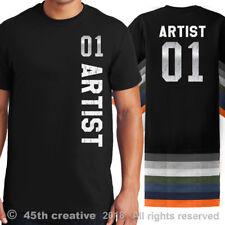 Artiste Sport Maillot T-Shirt - #1 Artiste Chemise Art Graphique Tee-Shirt